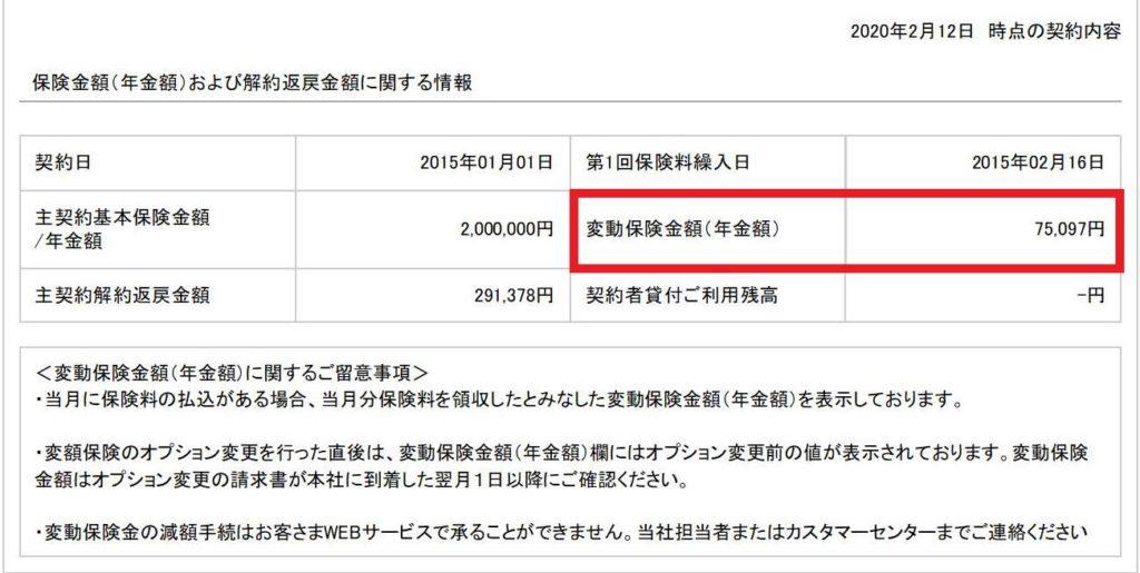 ソニー生命のバリアブルライフの変動保険金額について